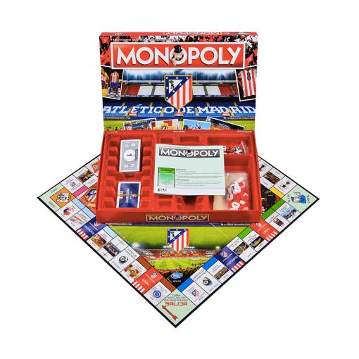 Monopoly Atlético de Madrid Caja contenido más Tablero