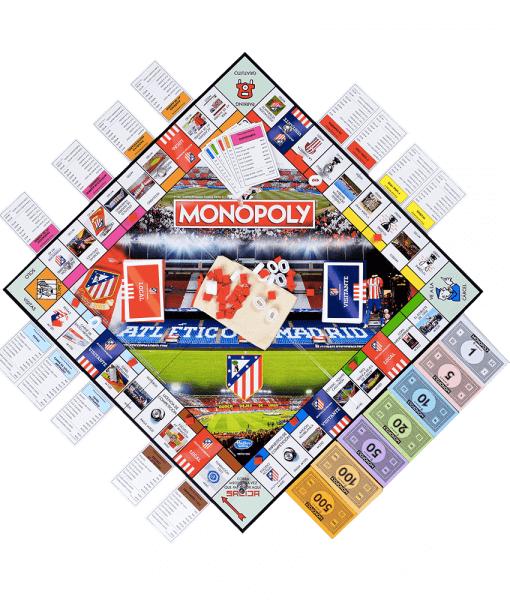 Monopoly Atlético de Madrid Tablero más Fichas