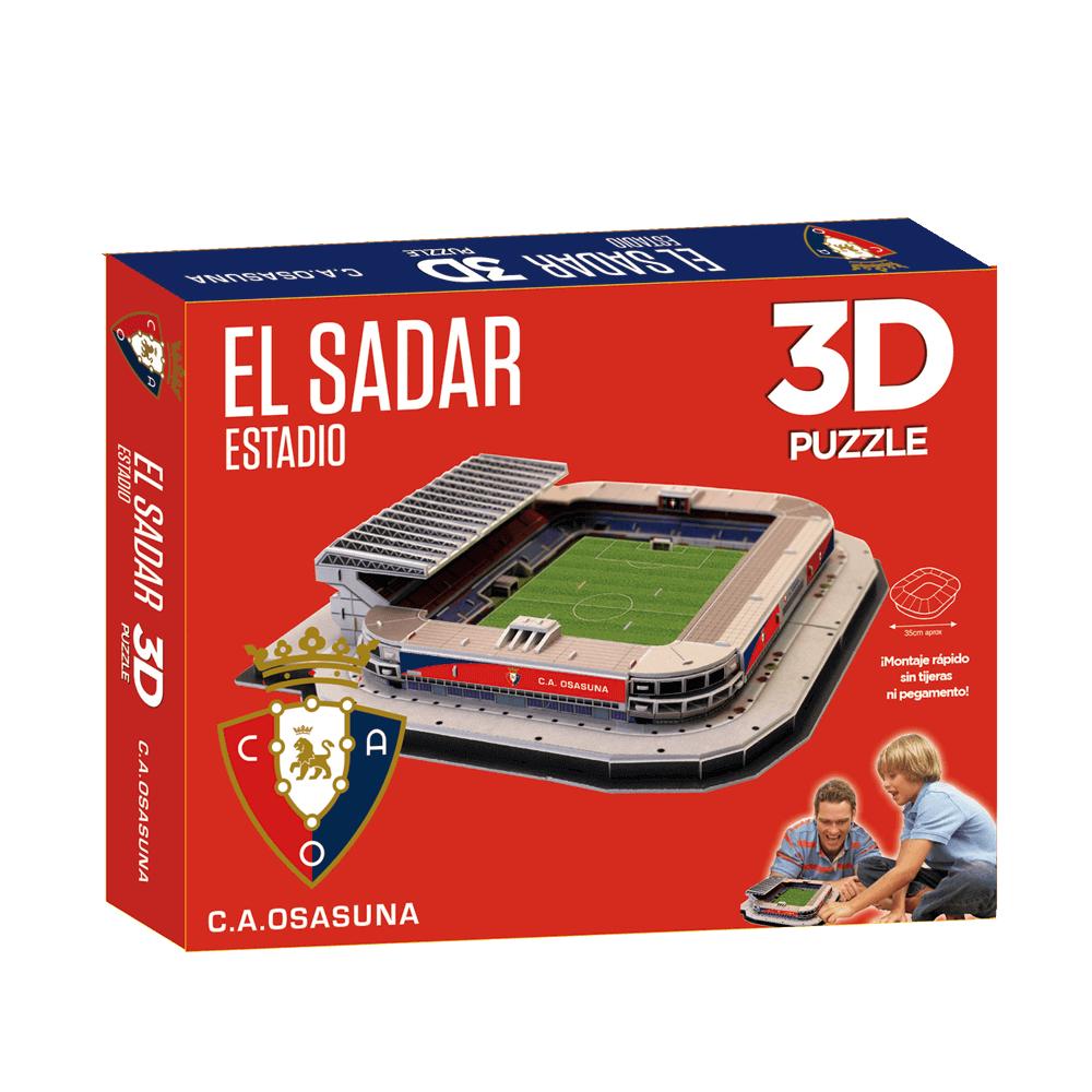 Puzzle 3D Estadio El Sadar caja