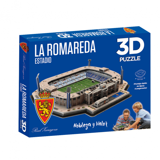 Puzzle 3D Estadio La Romareda caja