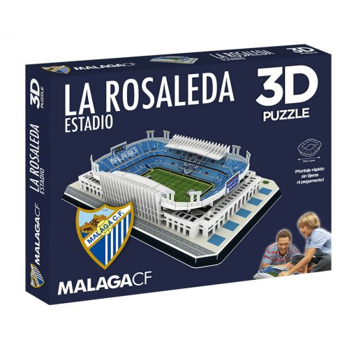 Puzzle 3D Estadio La Rosaleda caja
