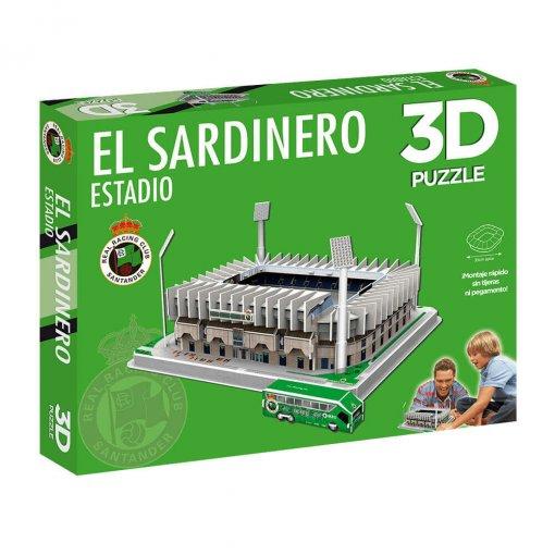 Puzzle 3D Estadio El Sardinero caja