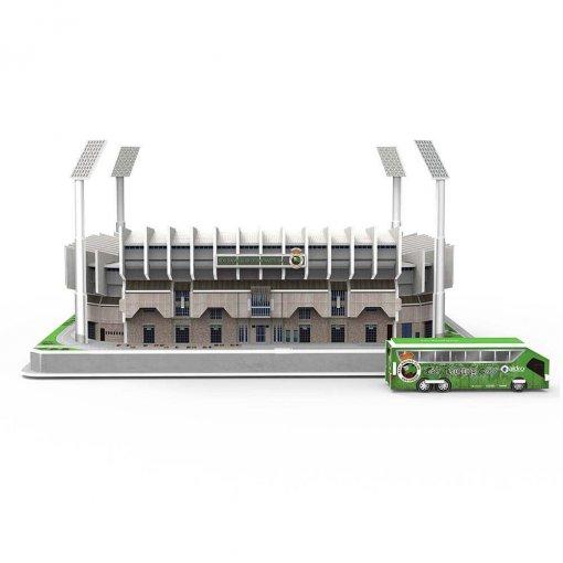 Puzzle 3D Estadio El Sardinero (montado+bus) frontal