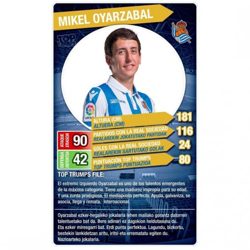 Top Trumps Real Sociedad (Mikel Oyarzabal)